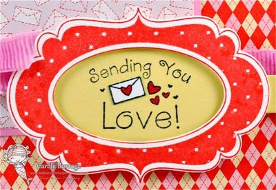CB Fancy Frame Valentine detail