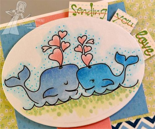 CB Whales in Love detail