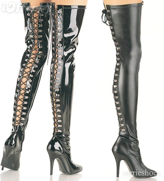 Sexy-fetish-thigh-high-lace-up-back-boots-a65f