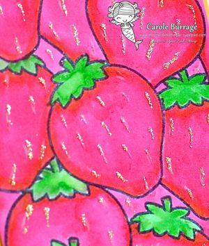 CB YNS Strawberry Letter Closeup