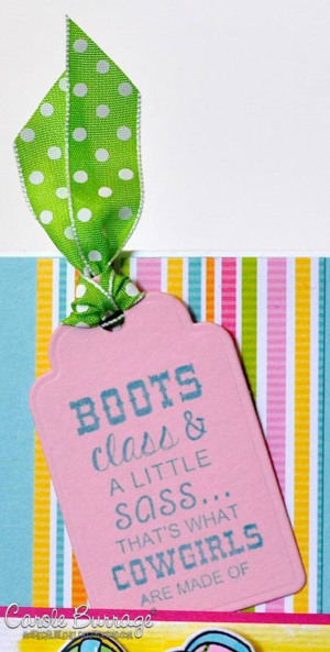 CB TE Cowgirl Boots tag